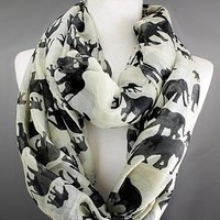 Scarves by Jusbella's Elephant Infinity Scarf
