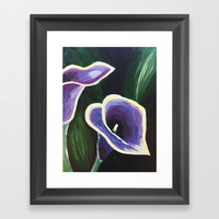 Purple Calla Lily Framed Art Print by Express Yourself Studios, LLC