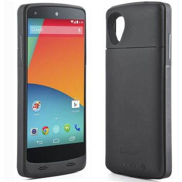 i-Blason Google Nexus 5 Battery Case - PowerGlider Rechargeable External Battery Full Protection Case AT&T, Sprint, Verizon. T-Mobile