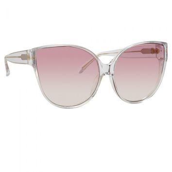 Linda Farrow 656 C12 Cat Eye Sunglasses