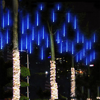 Romantic 30CM Meteor Shower Rain Tubes AC100-240V LED Christmas Lights Wedding Party Garden Xmas Decoration String Lights Event Lighting Outdoor Alternative Measures