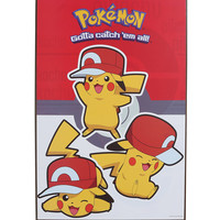 Pokemon Pikachu Hat Wood Wall Art