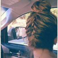 Hair Styles. / Upside down french braid into a ballerina bun Must do.