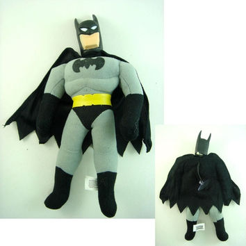 "New LATEST BATMAN Batman 10"" Grey Soft Stuffed Plush Doll Toy"