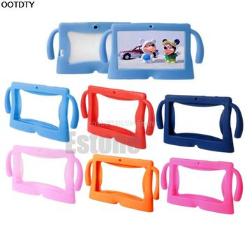 "OOTDTY Multicolor Computer Accessories Silicone Cute Soft Cover Case for 7"" Inch Android Gilrs Boys Kids Pad Tablet PC"