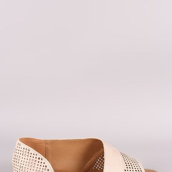 Dorsay Perforated Flat Sandal
