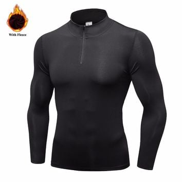 Men's Thermal Fleece Running Jacket Basic Jackets Winter Outdoor Workout Sport Coat Warm Down Jackets Boys Gym Jogging Jacket