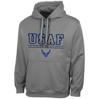 Mens Air Force Falcons Under Armour Gray Performance Hoodie