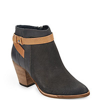 Dolce Vita - Perforated Leather Ankle Boots