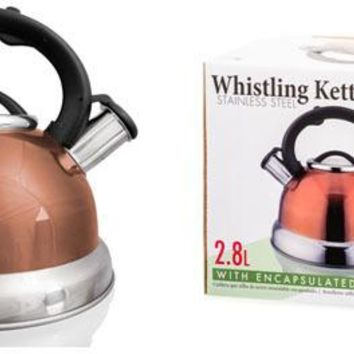 Imperial Home Stainless Steel Whistling Tea Kettle - Copper / 2.