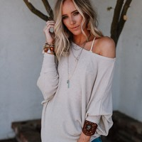 Make It Easy Waffle Knit Top - Off White