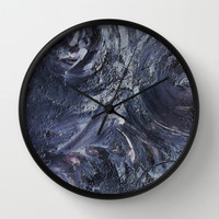 Purple Planet  Wall Clock by Lunacy Eavee