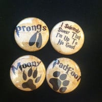 Maruaders Inspired Set of 4 one inch buttons