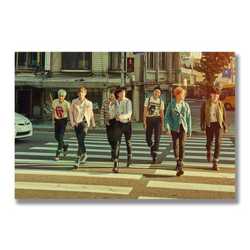 Kpop BTS Music Silk Poster Bangtan Boys Wall Art Print Painting 12x18 13x20 inch Decoration Pictures Wallpaper Bedroom Decor 008