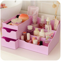 Home Plastic Cosmetics Makeup Storage Drawers Organizer Box Desktop Plastic Storage Cabinets With Drawers