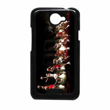 CREYUG7 Michael Jordan NBA Chicago Bulls Dunk HTC One X Case
