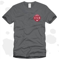 Firefighter's Dad Gray T-Shirt