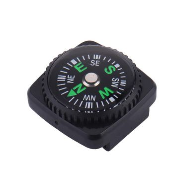 10 Pcs 20mm super Mini hiking Compass with Leather Sheath Survival Navigation Tool Suitable for Watches Bracelets drop shipping