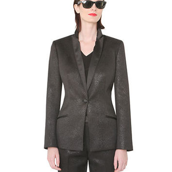 Isaac Mizrahi New York Metallic Blazer