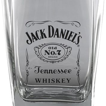 Jack Daniel's Licensed Barware Label Logo Double Old Fashioned Glass - NEW!