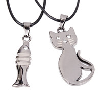 Kitties Favorite Cat Lover Necklace Pendant DUO