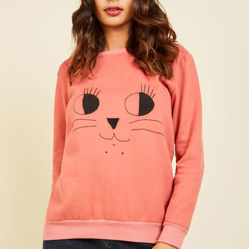 Critter to Your Every Whim Sweatshirt | Mod Retro Vintage Sweaters | ModCloth.com