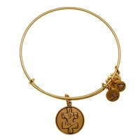 Alex and Ani Piece Of The Puzzle Charm Bangle - Russian Gold