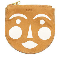 Baggu Pouch Small Painted Blushing Face  in Nutmeg