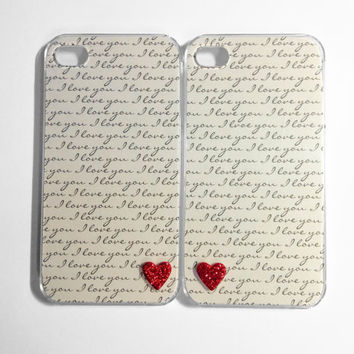 I Love You Tiny Hearts iPhone 4/4S cases