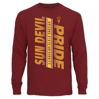 Arizona State Sun Devils Maroon Bold Statement Long Sleeve T-Shirt