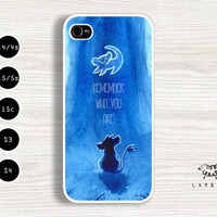 "iPhone 5/5s, 5c, 4/4s & Samsung Galaxy S4, S3 Cases | Disney / The Lion King Movie / Simba / ""Remember Who You Are!"" iPhone 5 Case"