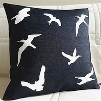 flying birds cushion by lovebox design | notonthehighstreet.com