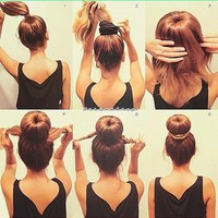 Sock Bun tutorial (: