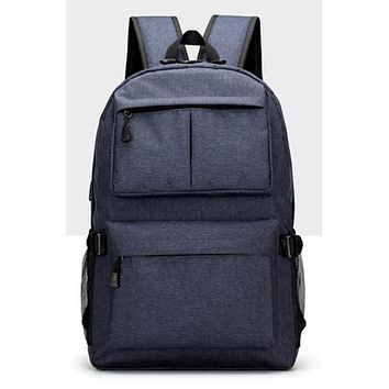 School Backpack AHRI USB Unisex Design Backpack Book Bags for  Casual Rucksack Daypack Oxford Canvas Laptop Fashion Man Backpacks AT_48_3