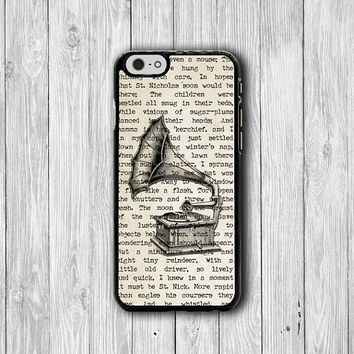 Vintage Record Disc Player GRAMOPHONE iPhone 6 Cover, iPhone 6 Plus, iPhone 5S/5C Hard Case, Soft Silicon, Plastic iPhone 4 Accessory Gift