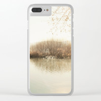 Autumn Lake Scene Clear iPhone Case by ARTbyJWP