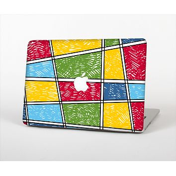 The Sketched Colorful Uneven Panels Skin Set for the Apple MacBook Pro 15""