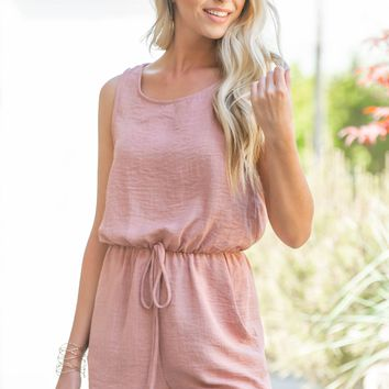 Make Me Blush Sleeveless Romper