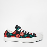 Converse All Star Cherry Print Ox Trainers