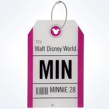 disney parks TAG collection minnie airport ticket luggage tag new with tags