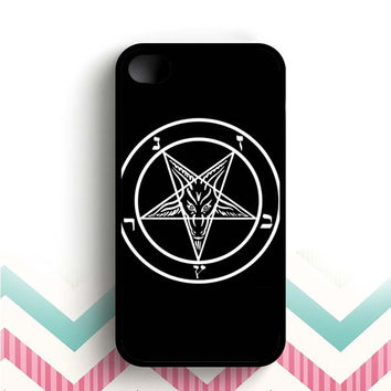 Inverted Pentagram Baphomer  iPhone 4 and 4s case