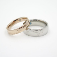 2pcs,his and hers rings, couple ring set, his and her promise rings, Cross ring,free engraving