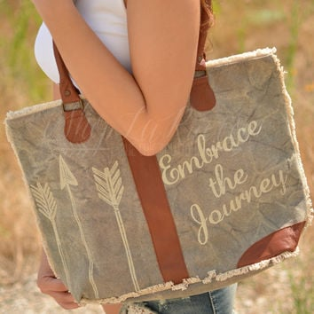 EMBRACE THE JOURNEY CANVAS BAG