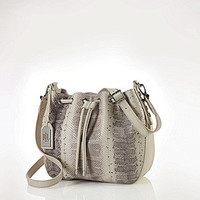 Lauren Ralph Lauren Huttington Snake Drawstring Bag - Natural