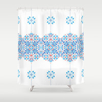 Floral Folk Tale Shower Curtain by Swissette