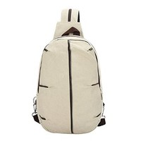 Unisex Multi-functional Canvas Turtle Shell Style Zipper Strap Shoulder Bag Or Chest Pack