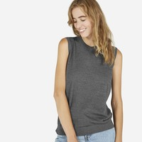 The Luxe Sweater Sleeveless - Charcoal