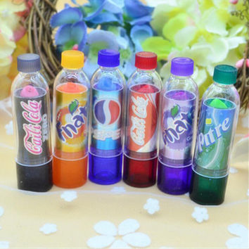 New Fashion Cola Lipstick Rainbow Change Color cute Lip Smacker Baby Lips Brand Makeup Moisturizer Faint scent Lip Balm 6 colors