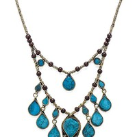 Natalie B Jewelry The Lady Madonna Necklace in Turquoise