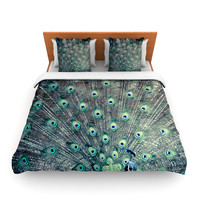 "Ann Barnes ""Majestic"" Peacock Feather Lightweight Duvet Cover"